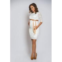 Čipkované svadobné šaty Silvia - biele