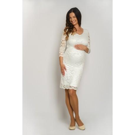 Čipkované svadobné šaty - biele