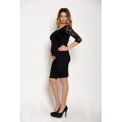 Tehotenské šaty - čierne