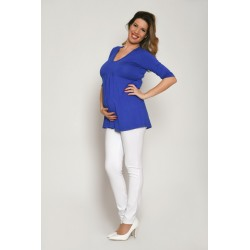 Tehotenské nohavice - biele