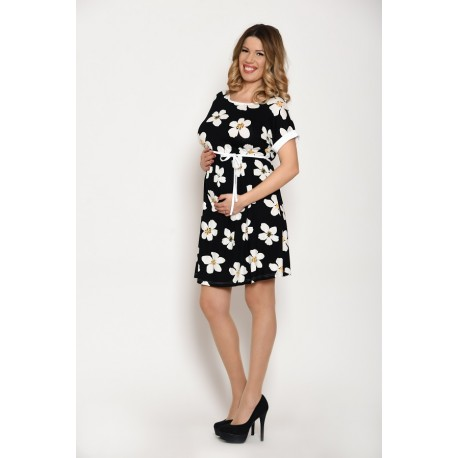 Letné tehotenské šaty s viazaním