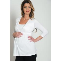 Tehotenské tričko biele