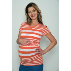 Tehotenské tričko pásikavé