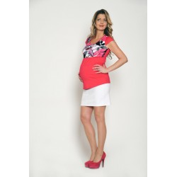 Tehotenská sukňa Dina - biela
