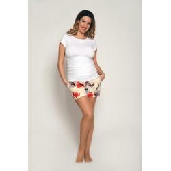 Tehotenské šortky - kvetinové