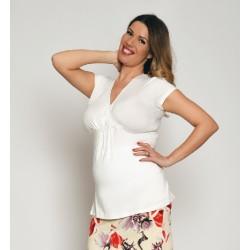 Tehotenské tričko - ecru