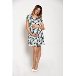 Letné tehotenské šaty kvetinové