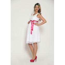 Čipkované svadobné šaty bez rukávov - biele