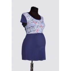 Tehotenská tunika - modrá