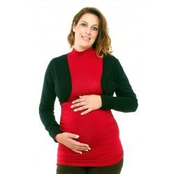 Čierne tehotenské bolerko