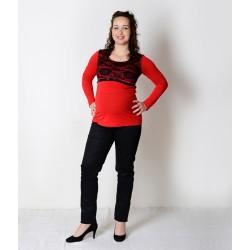 Tehotenské elegantné nohavice čierne