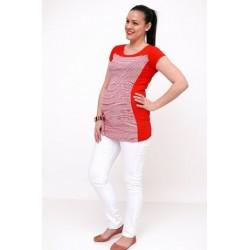 Tehotenské nohavice biele - dole zúžené