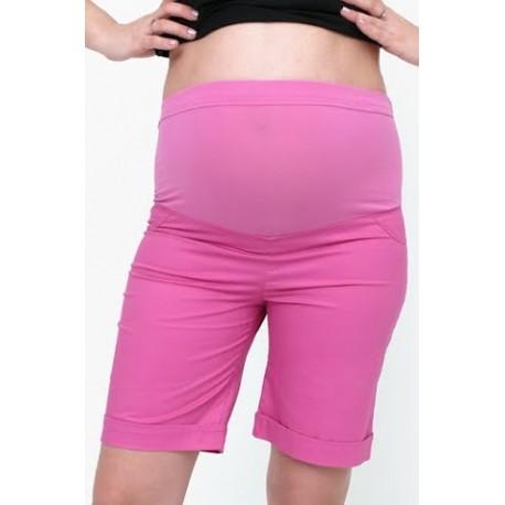 Tehotenské krátke nohavice ružové
