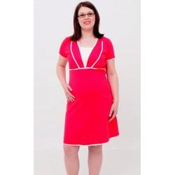 Nočná košeľa pre tehotné a dojčiace ženy - lososová