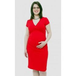 Tehotenské šaty červené
