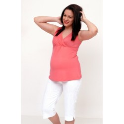 Tehotenské tričko bez rukávov - viac farieb