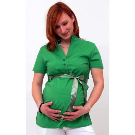 Tehotenská blúzka zelená