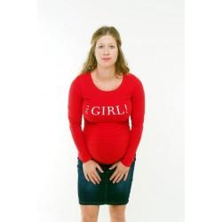 Tehotenské tričko s potlačou It´s a Girl! - 6 farieb