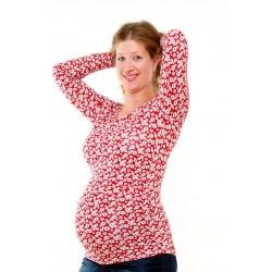 Kvetinové tehotenské tričko