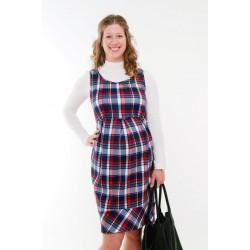 Tehotenské šaty kockované