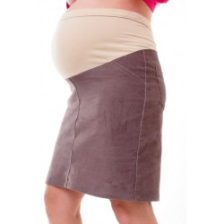 Tehotenská menžestrová sukňa Dina hnedá