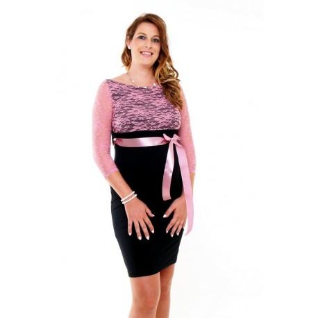 Tehotenské šaty s čipkou