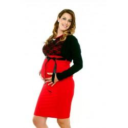 Tehotenské šaty bez rukávov + bolerko