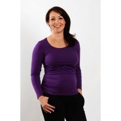 Tehotenské tričko fialové