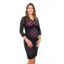 Tehotenské čipkované šaty