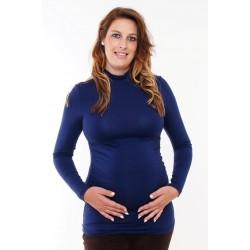 Tehotenský rolák tmavomodrý