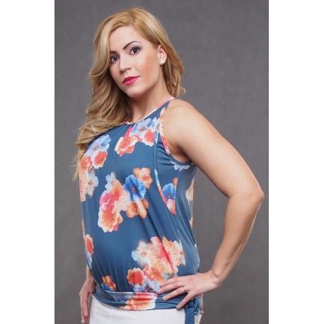 Letný top pre tehotné a pre dojčiace ženy