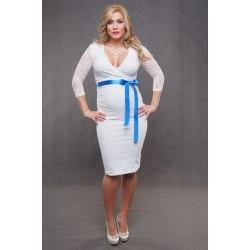 Tehotenské svadobné šaty biele