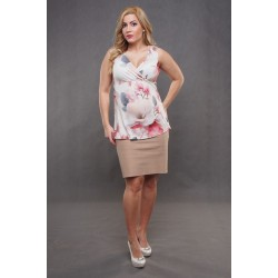 Tehotenská sukňa Dina hnedá