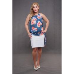 Tehotenská sukňa Dina biela