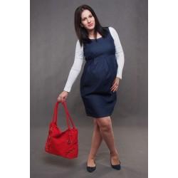 Tehotenské riflové šaty
