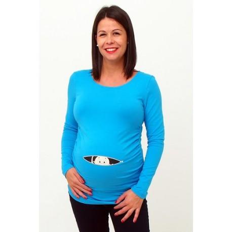 Tehotenské tričko s potlačou