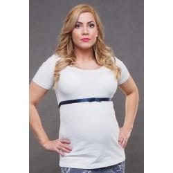 Tehotenské tričko so stuhou - biele