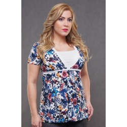 Tehotenské tričko s viazaním vzadu